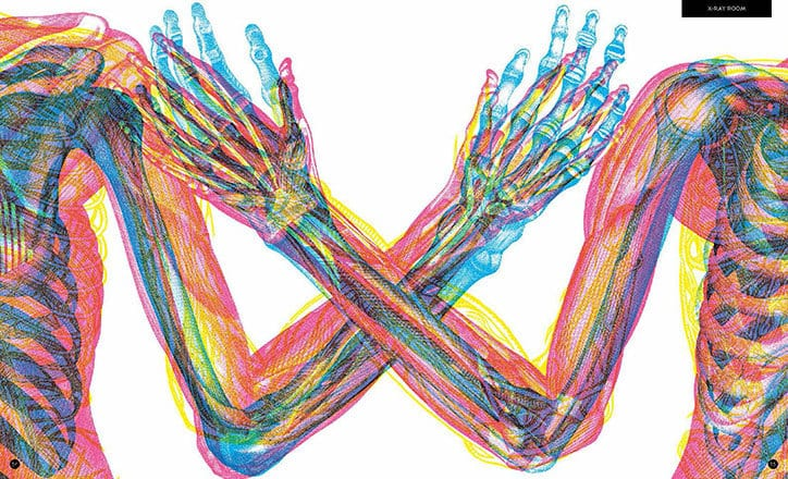 Carnovsky Illumanatomy book Wide Eyed editions publication itsnicethat 7 - Carnovsky ilustruje lidské tělo pod rentgenovým paprskem pomocí techniky RGB ilustrace