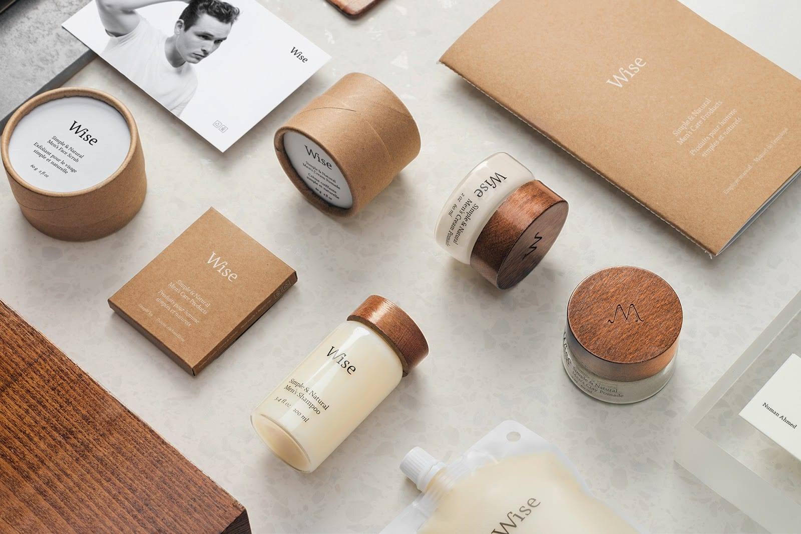 Wise Mens Care Brand Identity and Packaging 01 - Ach, tie obaly – péče Wise Men