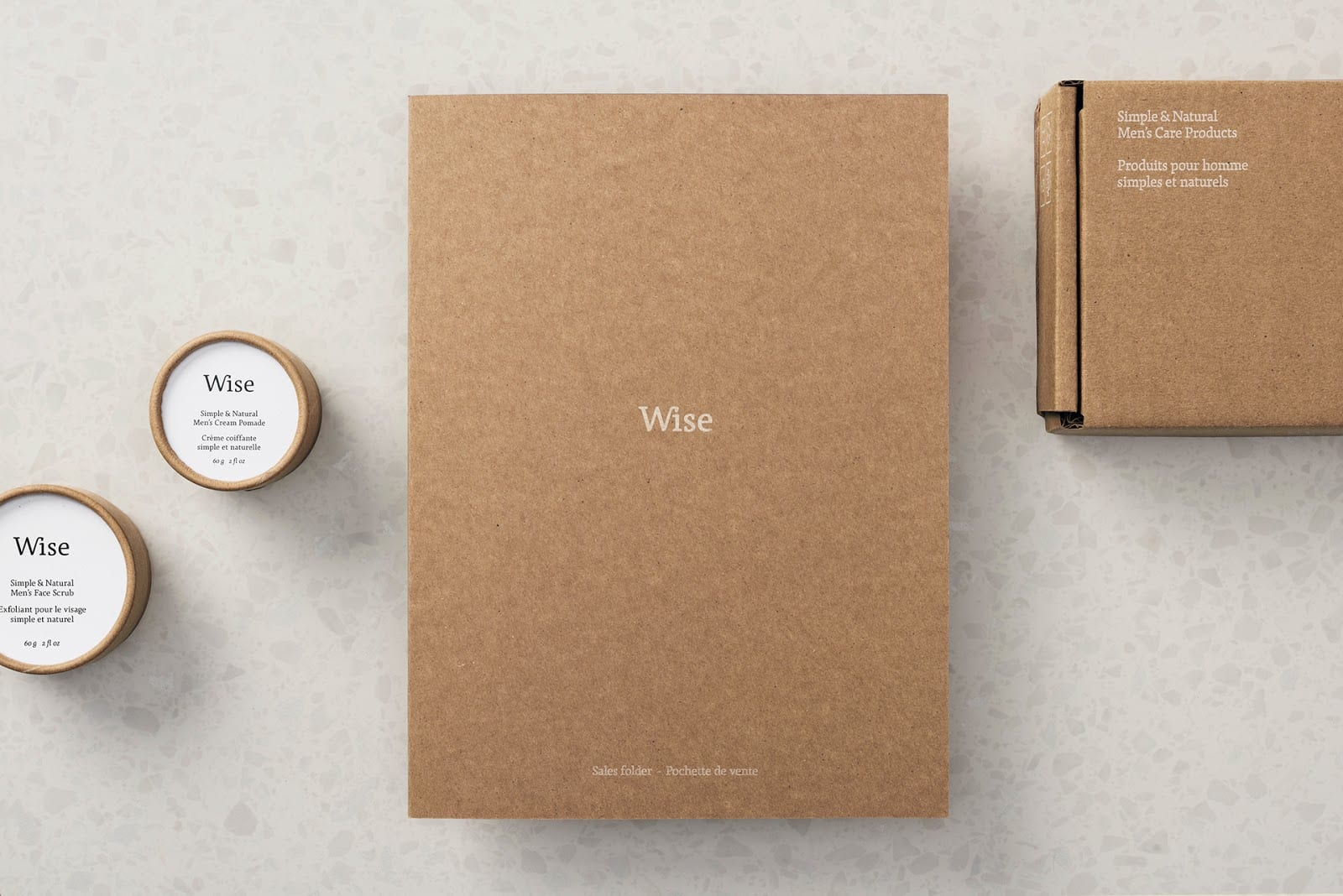 Wise Mens Care Brand Identity and Packaging 010 - Ach, tie obaly – péče Wise Men