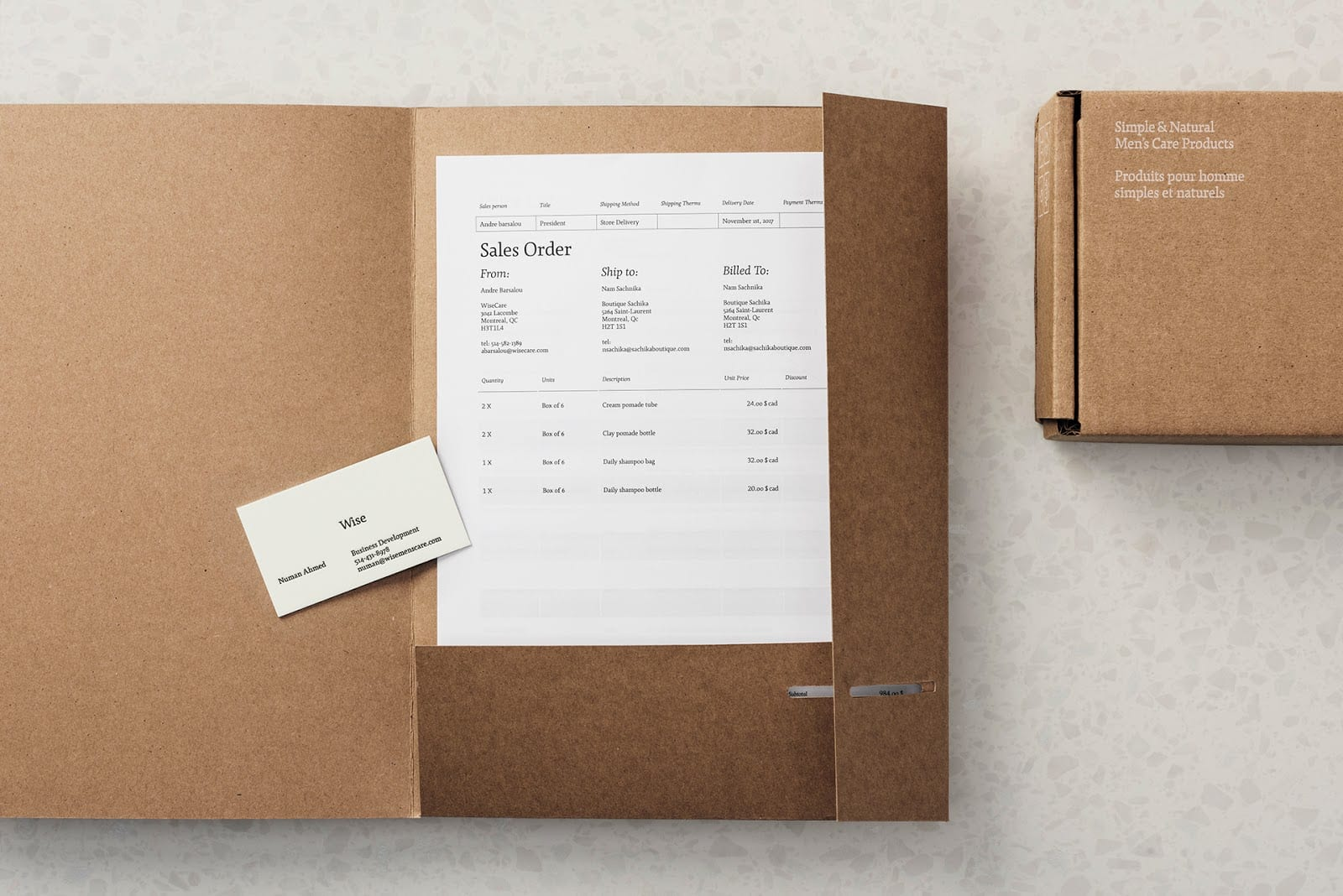 Wise Mens Care Brand Identity and Packaging 012 - Ach, tie obaly – péče Wise Men