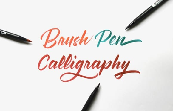 brush oen calligraphy 01 1000 580x371 - Intenzívne workshopy kaligrafie v novembri