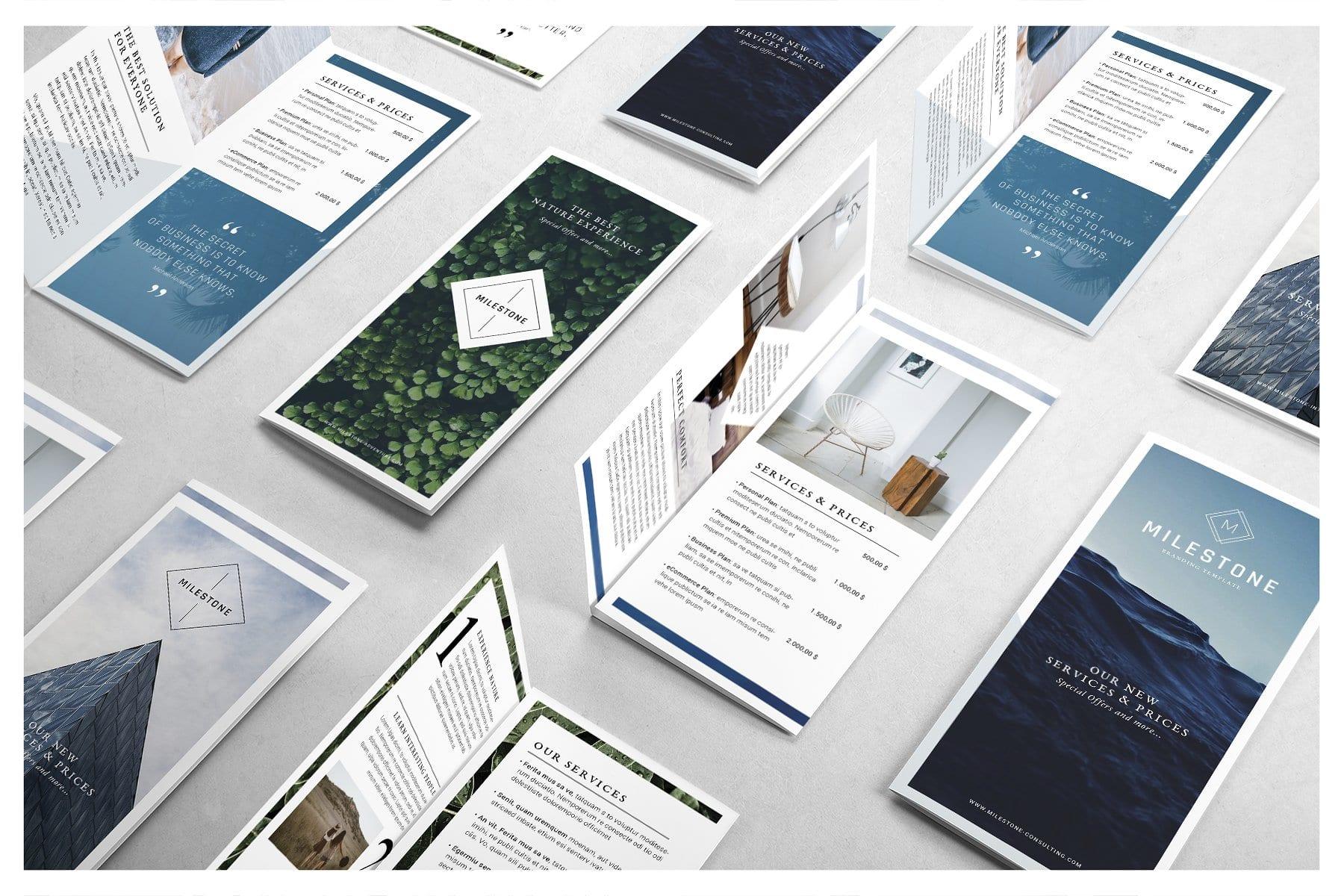 cover - Template DL brožúry zadarmo