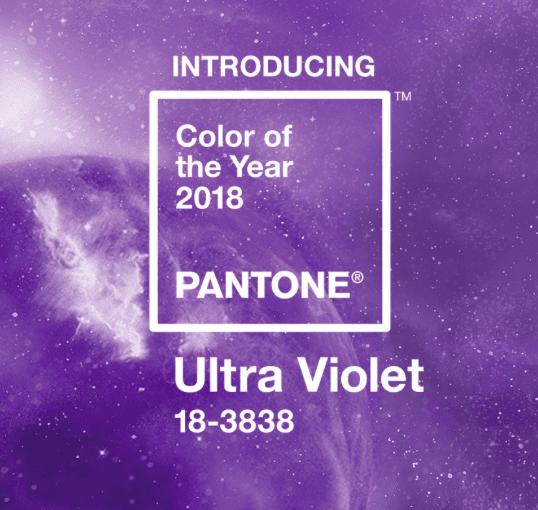 2 - Pantone vyhlásili Ultra Violet barvou roku 2018
