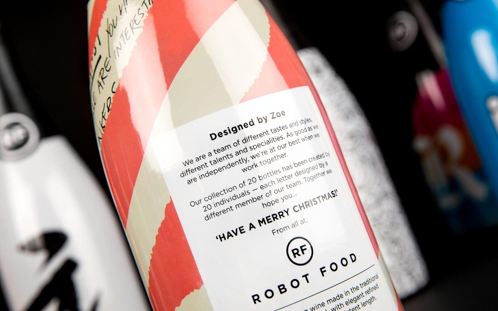 RF ChristmasBottles Close2 - Ach, tie obaly - 'Have a Merry Christmas!' od všech zRobot Food