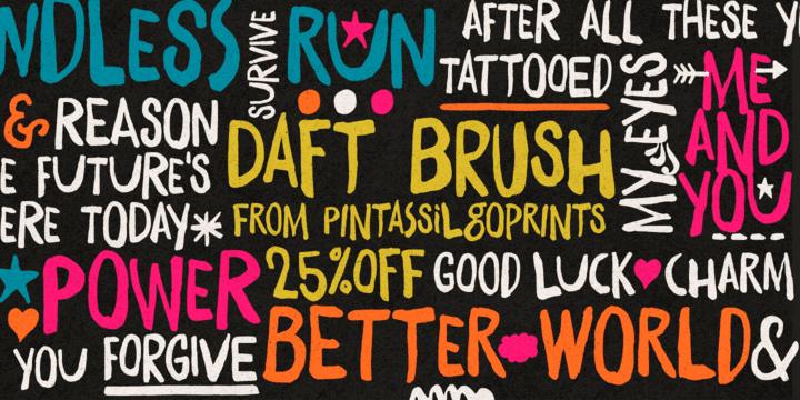 180796 - Font dňa – Daft Brush