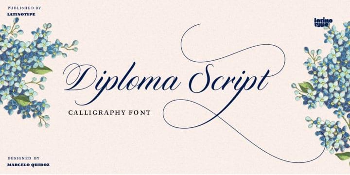 249459 - Font dňa – Diploma Script