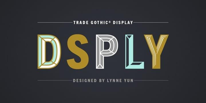 251933 - Font dňa – Trade Gothic® Display