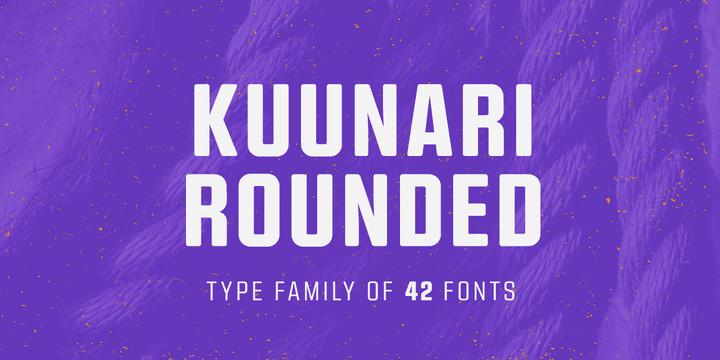252664 - Font dňa – Kuunari Rounded