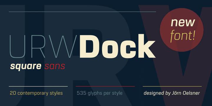255581 - Font dňa – URW Dock