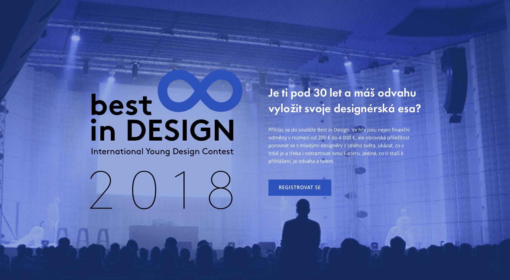 Best in Design - Soutěž Best in Design i letos pomáhá mladým tvůrcům k vysněné kariéře