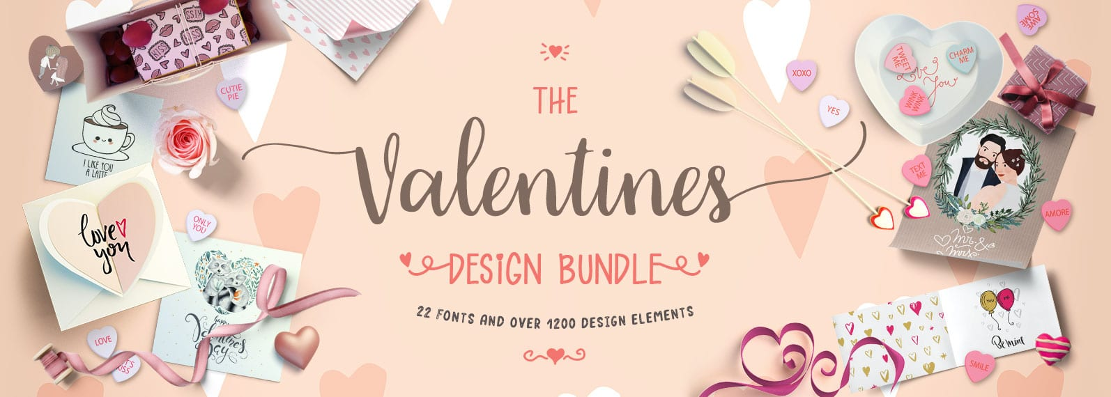 The Valentines Design Bundle Cover - Valentínsky design bundle so zľavou 94%