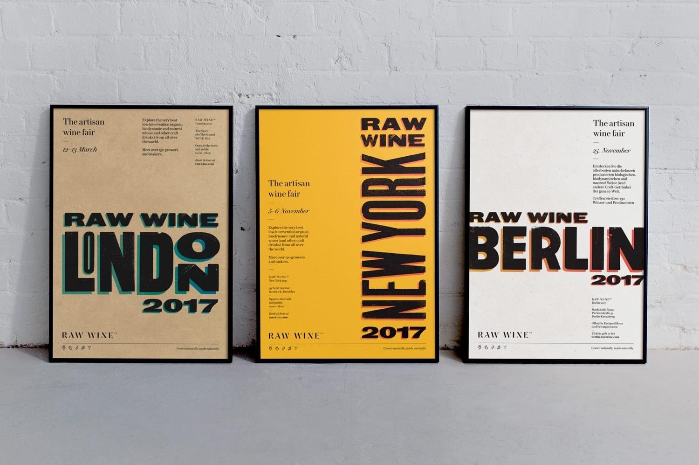 03 Raw Wine Branding Print Posters Wine Fair The Counter Press United Kingdom BPO - Inšpirujte sa týmito skvelými postermi