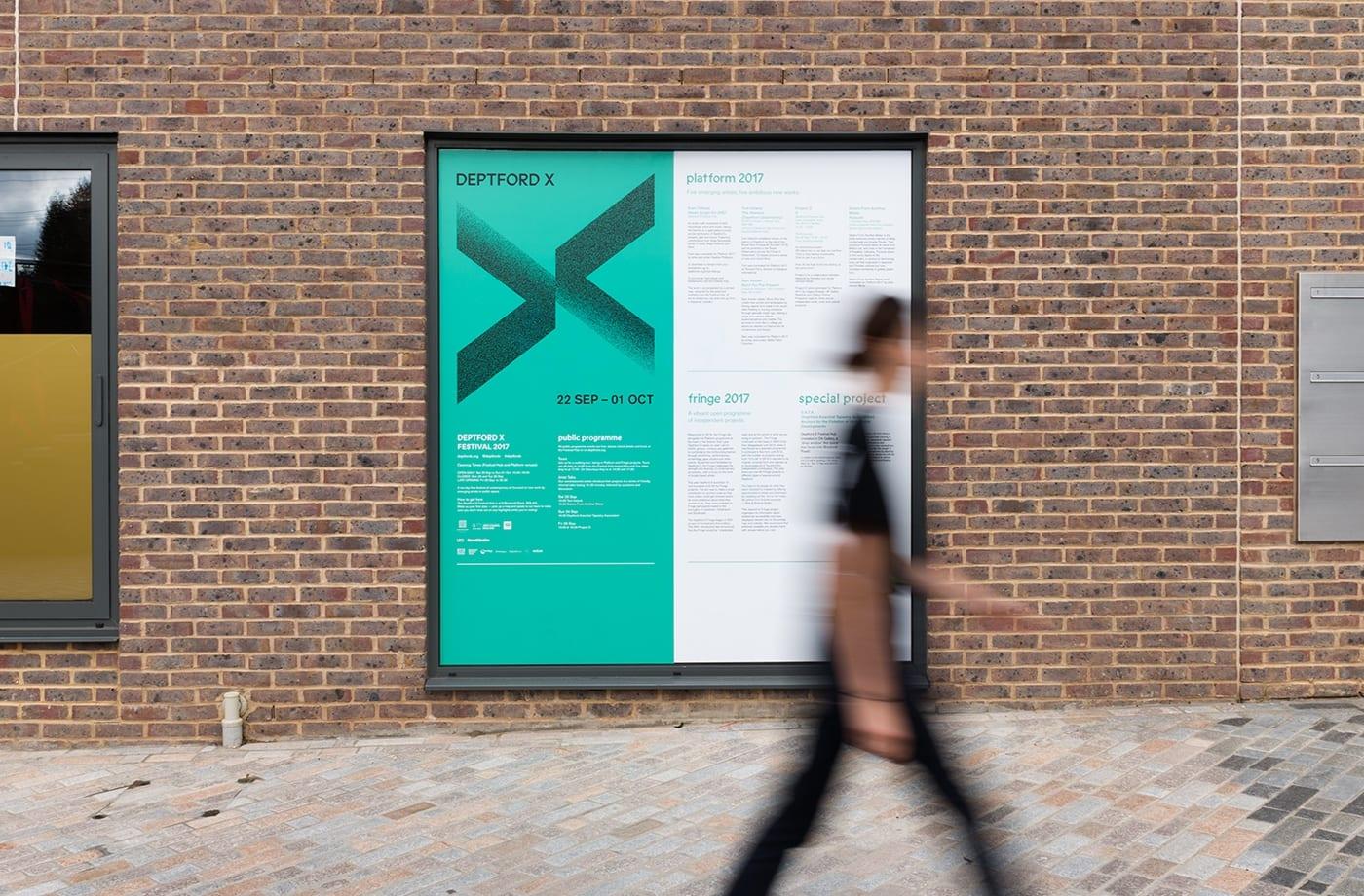 08 Deptford X Arts Festival Branding Print Poster IYA Studio London UK BPO - Inšpirujte sa týmito skvelými postermi