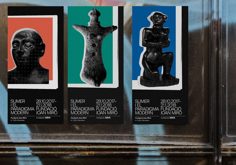 08 Sumer and the Modern Paradigm Exhibition Fundació Joan Miró Graphic Identity Print Poster Clase bcn Spain Barcelona BPO - Inšpirujte sa týmito skvelými postermi