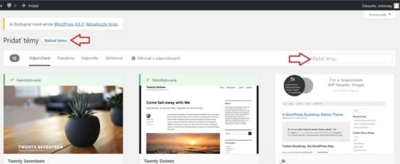 3 vyber sablony na wordpress blog 580x238 - Návod ako si založiť blog cez WordPress aj keď ste doteraz nikdy neprogramovali