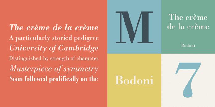 Bodoni - 10 nejdůležitějších písem vgrafickém designu