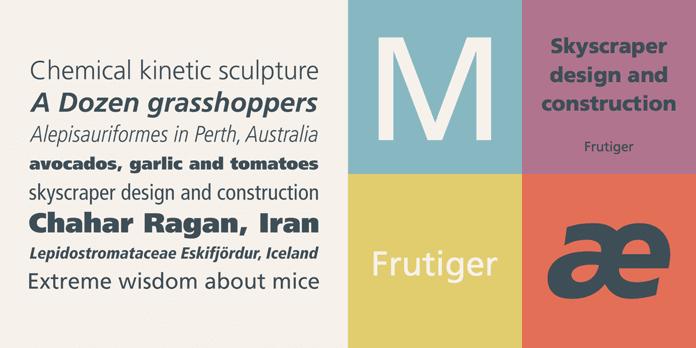 Frutiger - 10 nejdůležitějších písem vgrafickém designu