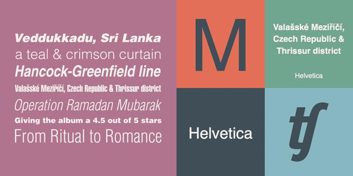 Helvetica - 10 nejdůležitějších písem vgrafickém designu