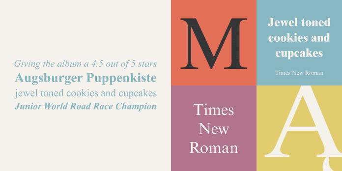 Times New Roman - 10 nejdůležitějších písem vgrafickém designu