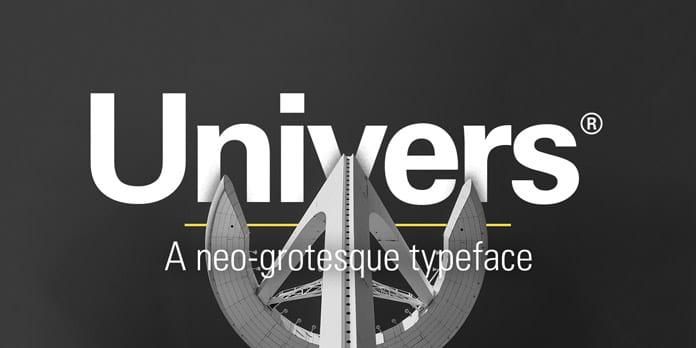 Univers - 10 nejdůležitějších písem vgrafickém designu