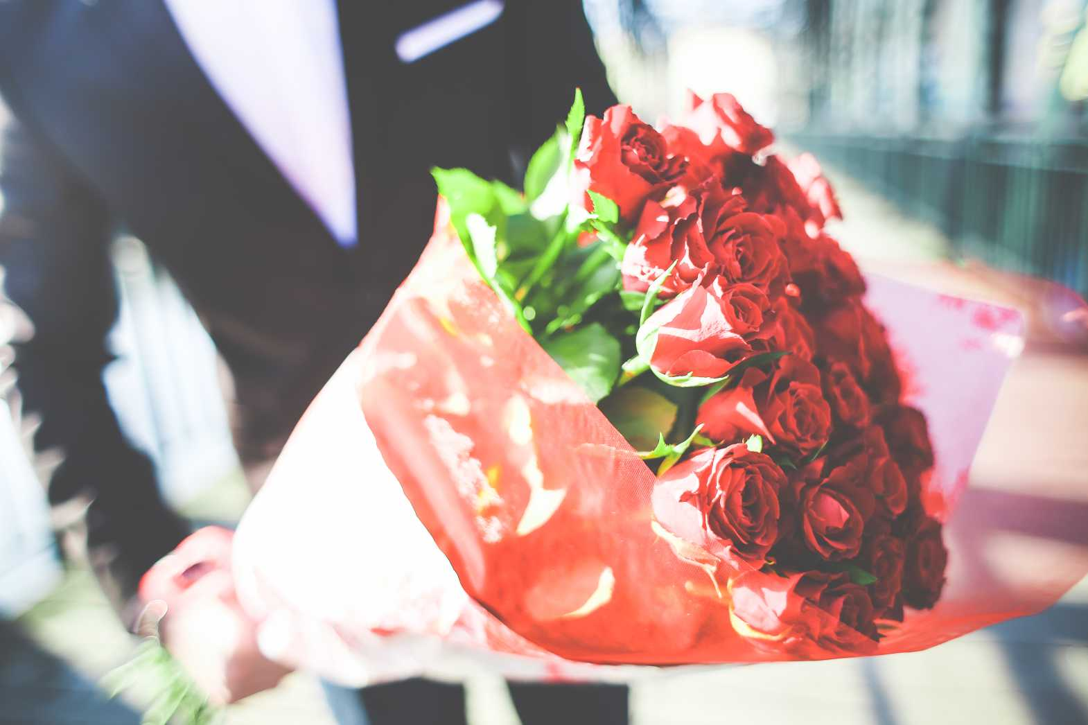 Free stock photo of Gentleman Holding a Bouquet of Roses from picjumbo.com