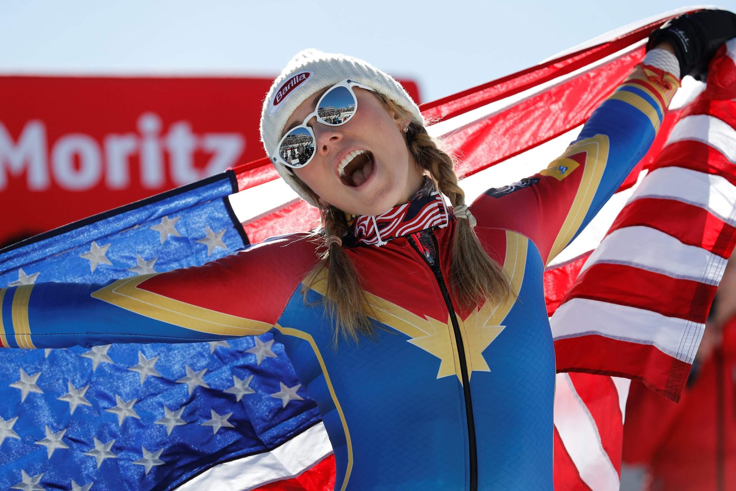 mikaela shiffrin feature image - Americký olympijský lyžařský tým na sjezdovkách v oblecích inspirovaných Marvel