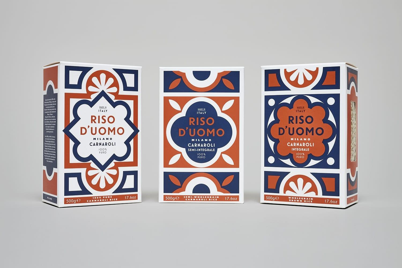 01 Riso Duomo Branding Packaging Design Here UK BPO - Ach, tie obaly – Riso D'uomo