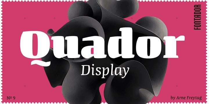 258054 - Font dňa – Quador Display