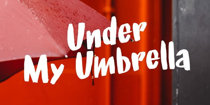 259673 - Font dňa – Under My Umbrella