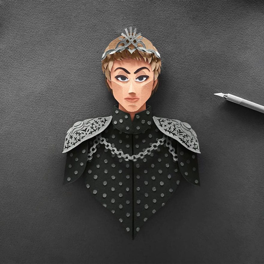 Artist makes the Game of Thrones characters on paper and the result is wonderful 5a9cad0c38422  880 - Netradičné portréty obľúbených hrdinov z Game of Thrones