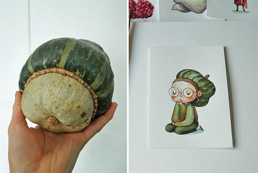 I re imagine fruit and veg as watercolor characters 5a9666d31bb84  880 - 11 malieb ovocia a zeleniny, ktoré získali vlastnú osobnosť