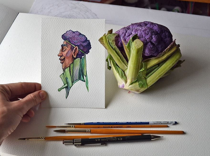 I re imagine fruit and veg as watercolor characters 5a967128b1de7  880 - 11 malieb ovocia a zeleniny, ktoré získali vlastnú osobnosť