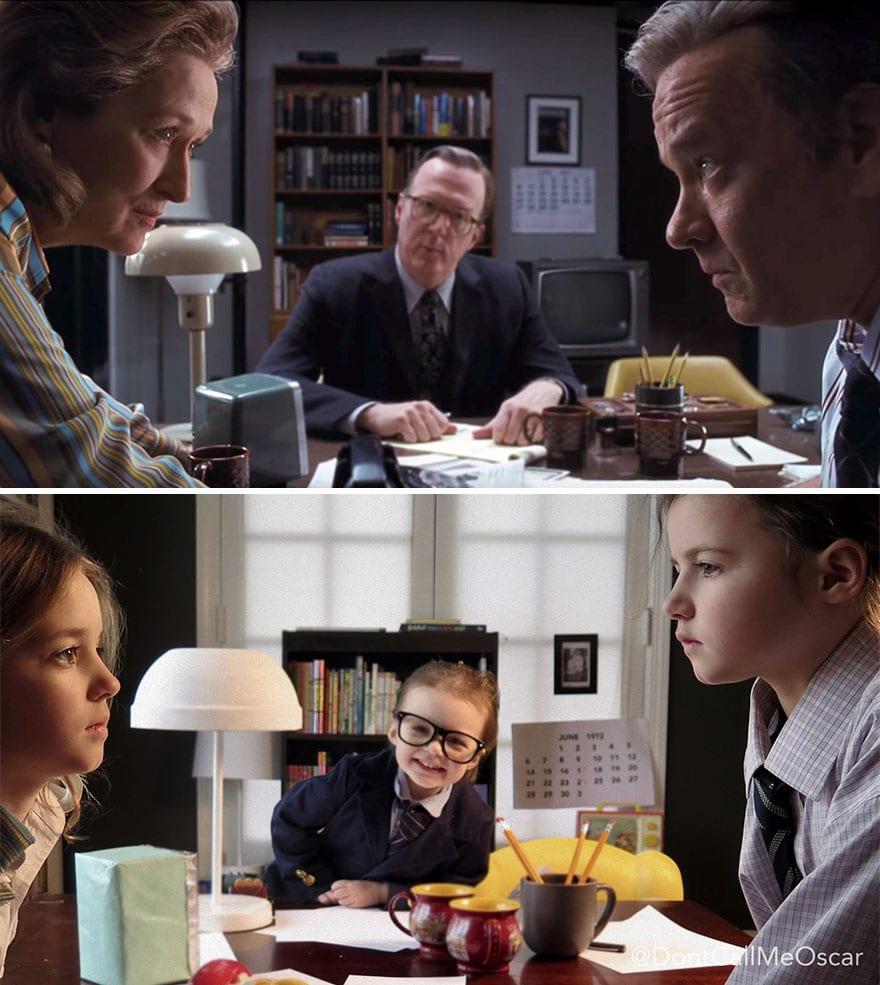 Mother uses children to recreate Oscar nominated movie scenes and the result is very lovely 5aa244383528a 880 - Mama zabavila svoje dcéry naozaj kreatívne! Nafotili scény z filmov nominovaných na Oscarov