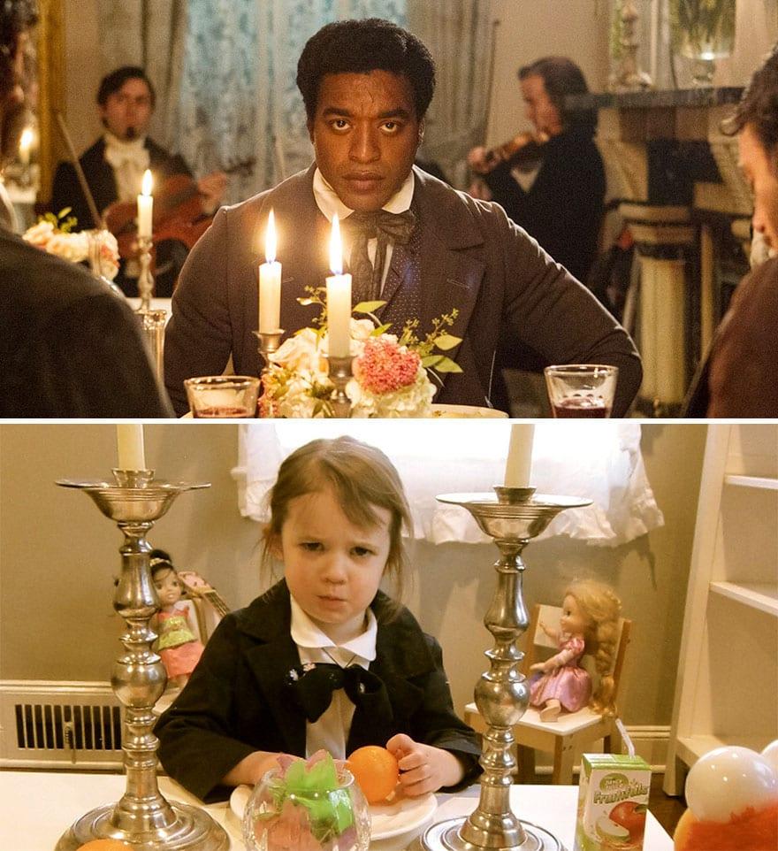 Mother uses children to recreate Oscar nominated movie scenes and the result is very lovely 5aa25055f05e1 880 - Mama zabavila svoje dcéry naozaj kreatívne! Nafotili scény z filmov nominovaných na Oscarov