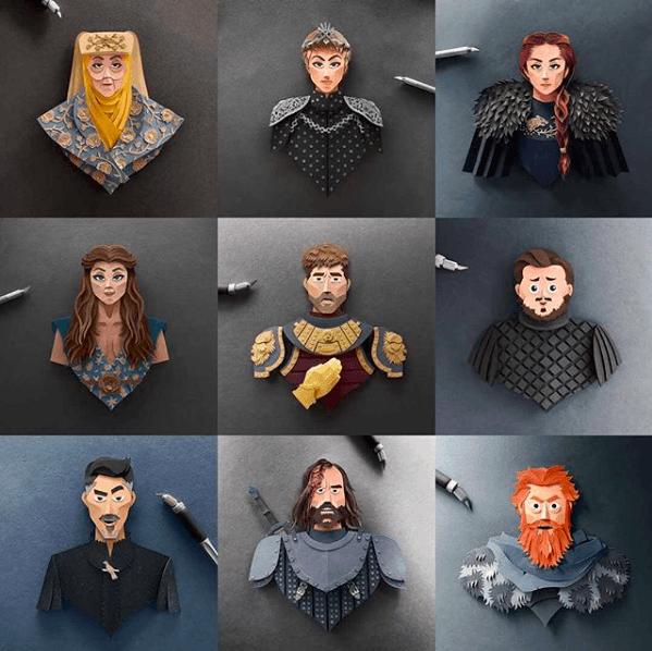 Snímka obrazovky 2018 03 06 o 15.29.40 - Netradičné portréty obľúbených hrdinov z Game of Thrones