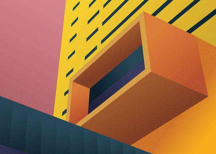 2 Central Bank of Kuwait - Architektonické ilustrace Renaty Jakab pro PACE Architecture