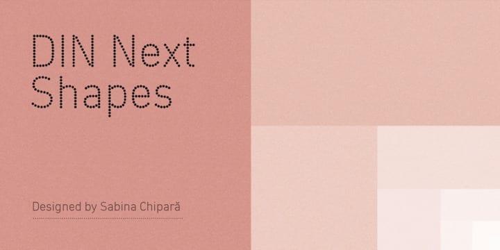 259322 - Font dňa – DIN Next Shapes