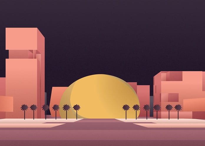 4 Kuwait University Admin Facilities - Architektonické ilustrace Renaty Jakab pro PACE Architecture