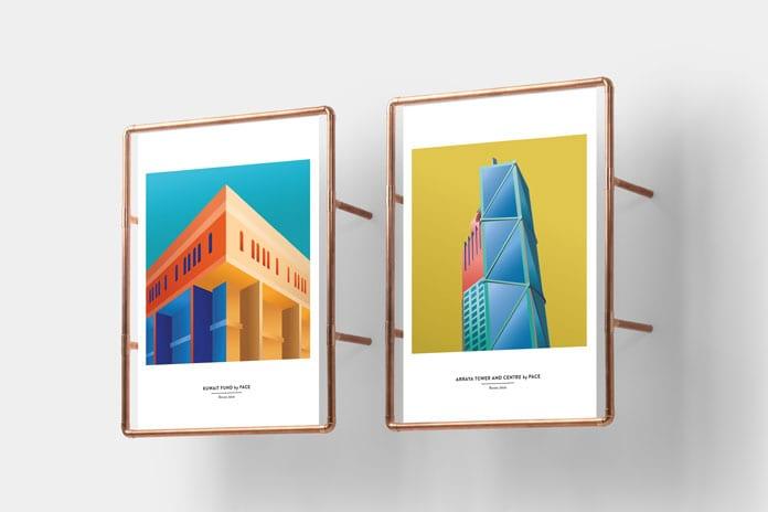 5 Exhibition view - Architektonické ilustrace Renaty Jakab pro PACE Architecture