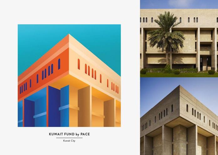 6 Kuwait Fund - Architektonické ilustrace Renaty Jakab pro PACE Architecture