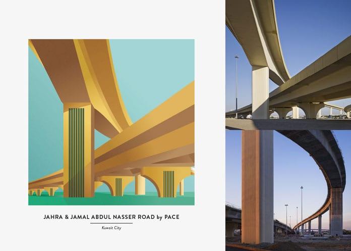 7 Jahra and Jamal Abdul Nasser Road - Architektonické ilustrace Renaty Jakab pro PACE Architecture