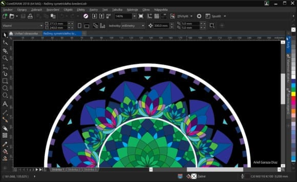 CorelDRAW Graphics Suite 2018 Symmetry Drawing Mode 580x355 - Nová verze CorelDRAW Graphics Suite 2018