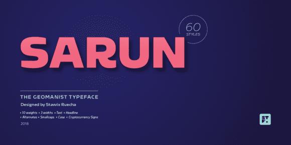 259526 580x290 - Font dňa – Sarun Pro