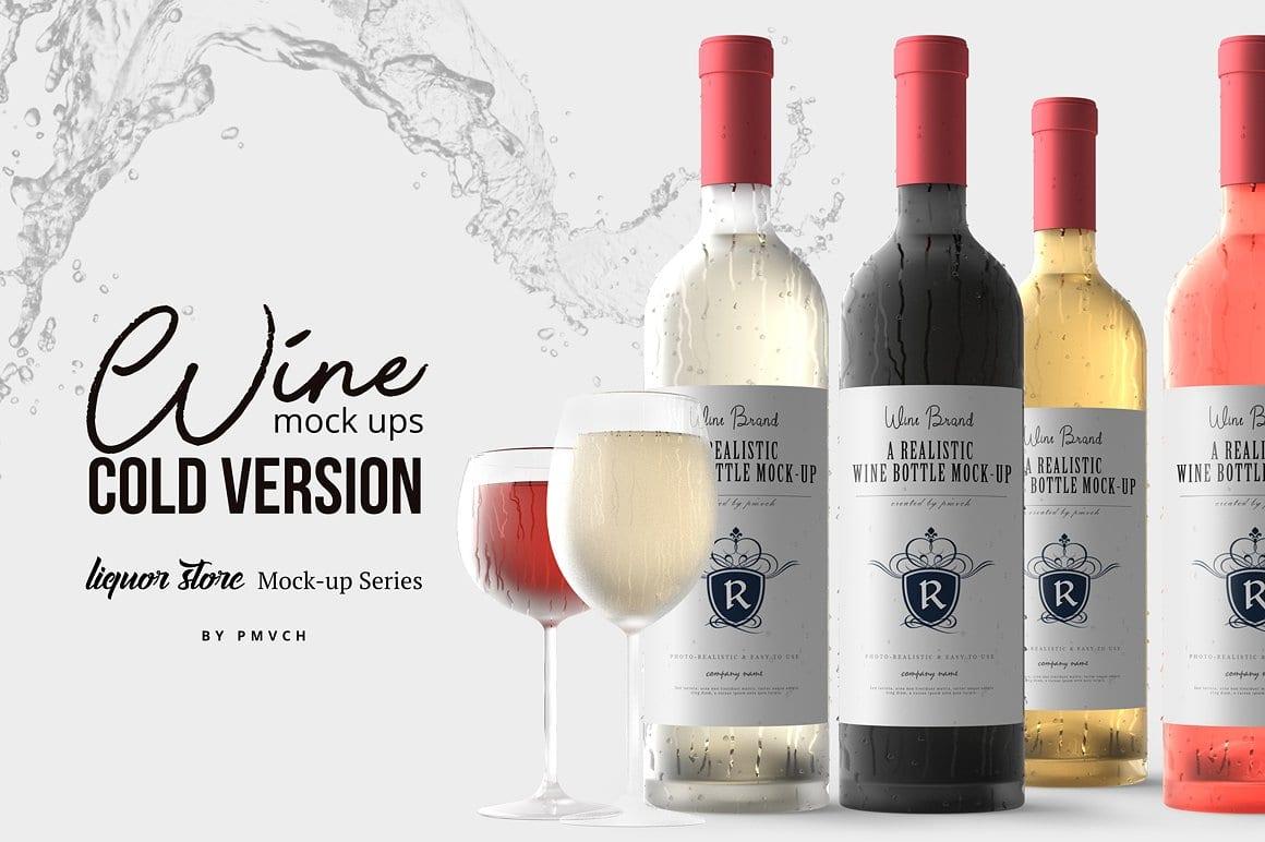 0 wine mockup  - Set Mockupov vín za 9 dolárov