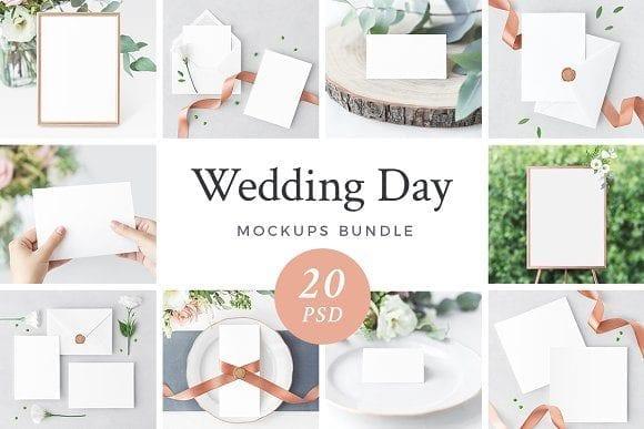 wedding day bundle 1 20psd  580x387 - Set svatebních mockupů za 35$