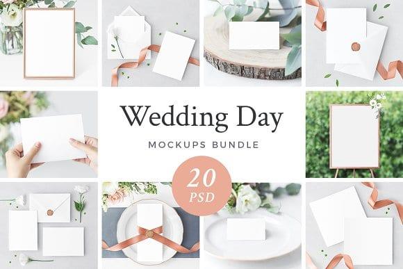 wedding day bundle 1 20psd  - Set svatebních mockupů za 35$