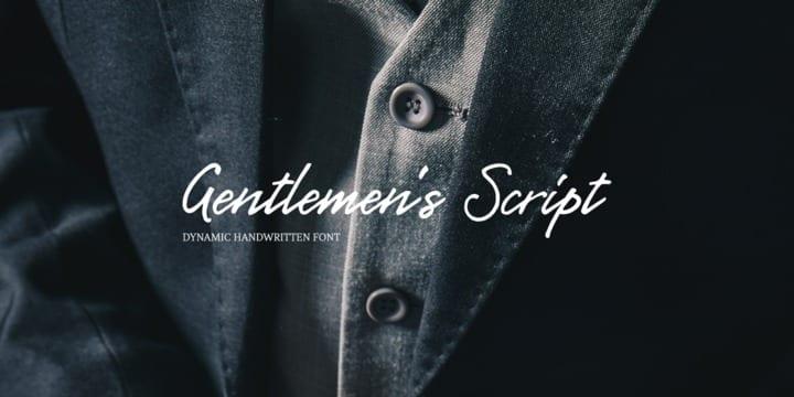 269883 - Font dňa – Gentlemens Script