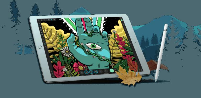 affinity designer ipad pencil 768x375 - Vektorový ilustrátor Affinity Designer vyšiel vo verzii pre iPad