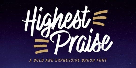 250337 580x290 - Font dňa – Highest Praise