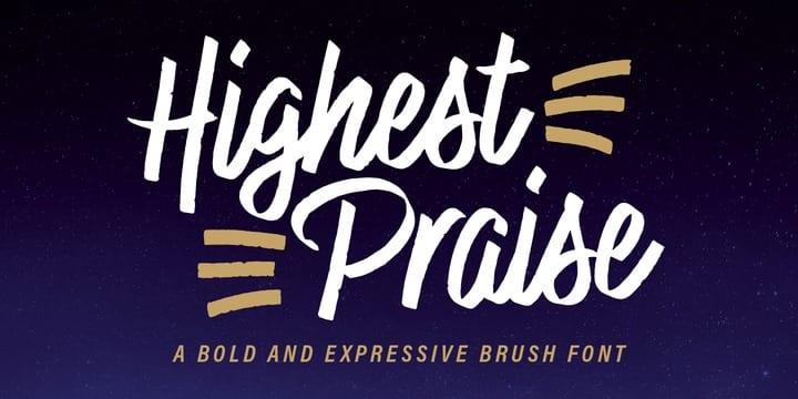 250337 - Font dňa – Highest Praise